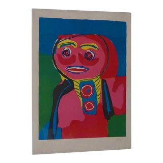 "1969 Karel Appel ""Fille Souliante"" Print"