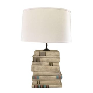 Vintage Stacked Book Table Lamp