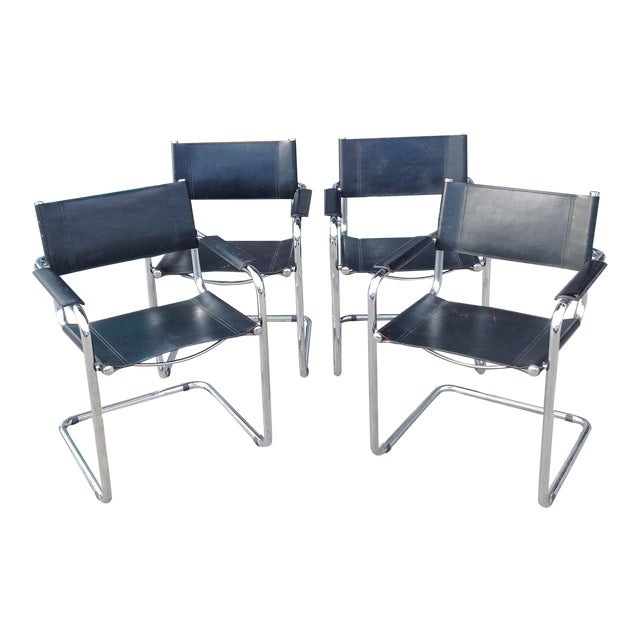 Image of Mark Stam Vintage Cantilever Arm Chairs - Set of 4