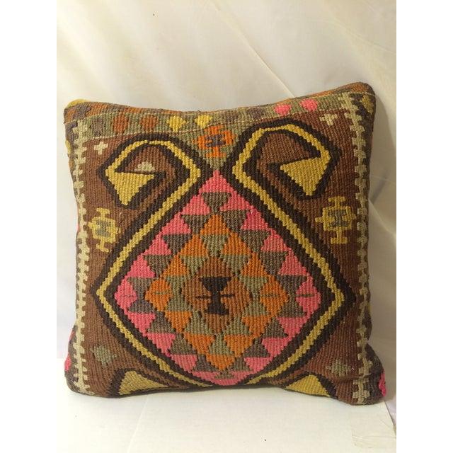 Antique Turkish Kilim Pillows - Pair - Image 3 of 8