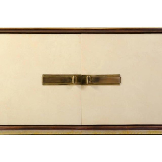 Art-Deco Vellum & Mahogany Sideboard Attributed to Paul Dupré-Lafon - Image 4 of 7