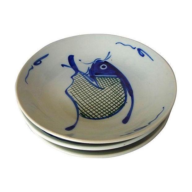 Vintage Asian Koi Serving Bowls - Set of 3 - Image 2 of 4