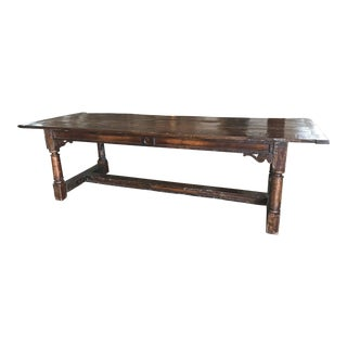 c. 1850 Antique Oak Farm Table