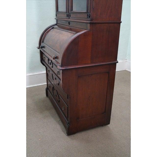 Victorian Walnut Cylinder Roll Secretary Desk - Image 8 of 10