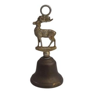 1960s Vintage Brass Reinder Bell