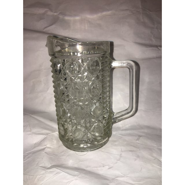 Antique Hobnail Glass Pitcher & Creamer - A Pair - Image 6 of 10