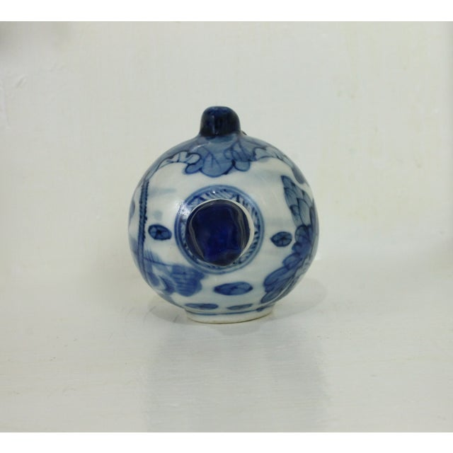 Blue & White Hand Painted Snuff Bottle - Image 4 of 7