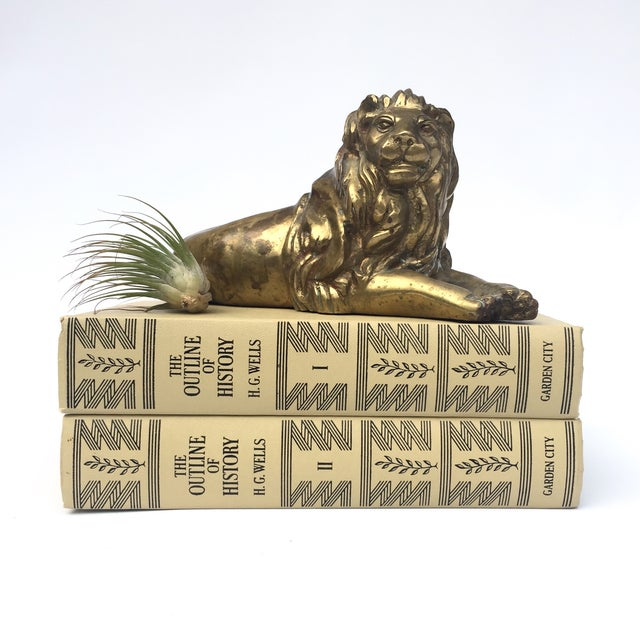 Brass Lion Figurine in Repose - Image 7 of 8