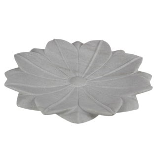 Large Blossoming Lotus Marble Plate