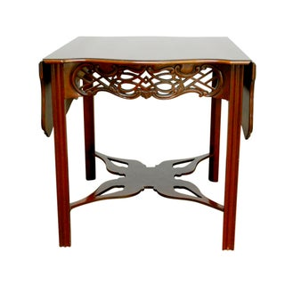 Chinese Chippendale Drop Leaf Table by Baker