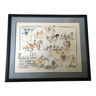 Original Montreal Polo Horse Watercolor Painting