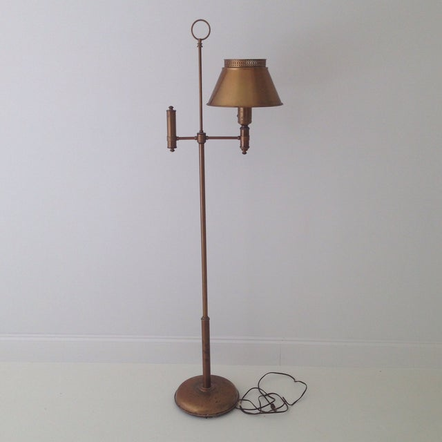 Brass Colored Tole Floor Lamp - Image 2 of 11
