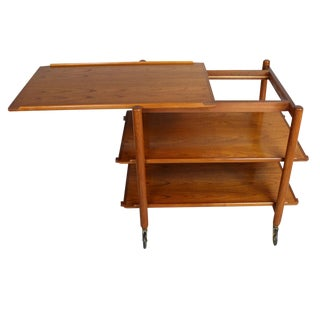 Poul Hundevad Serving and Bar Cart in Teak