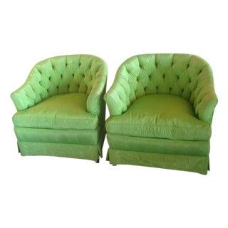 Tufted Salon Chairs - A Pair