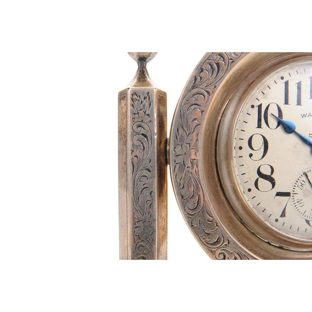 Waltham 8 Days Desk Clock With Sterling Stand - Image 3 of 9