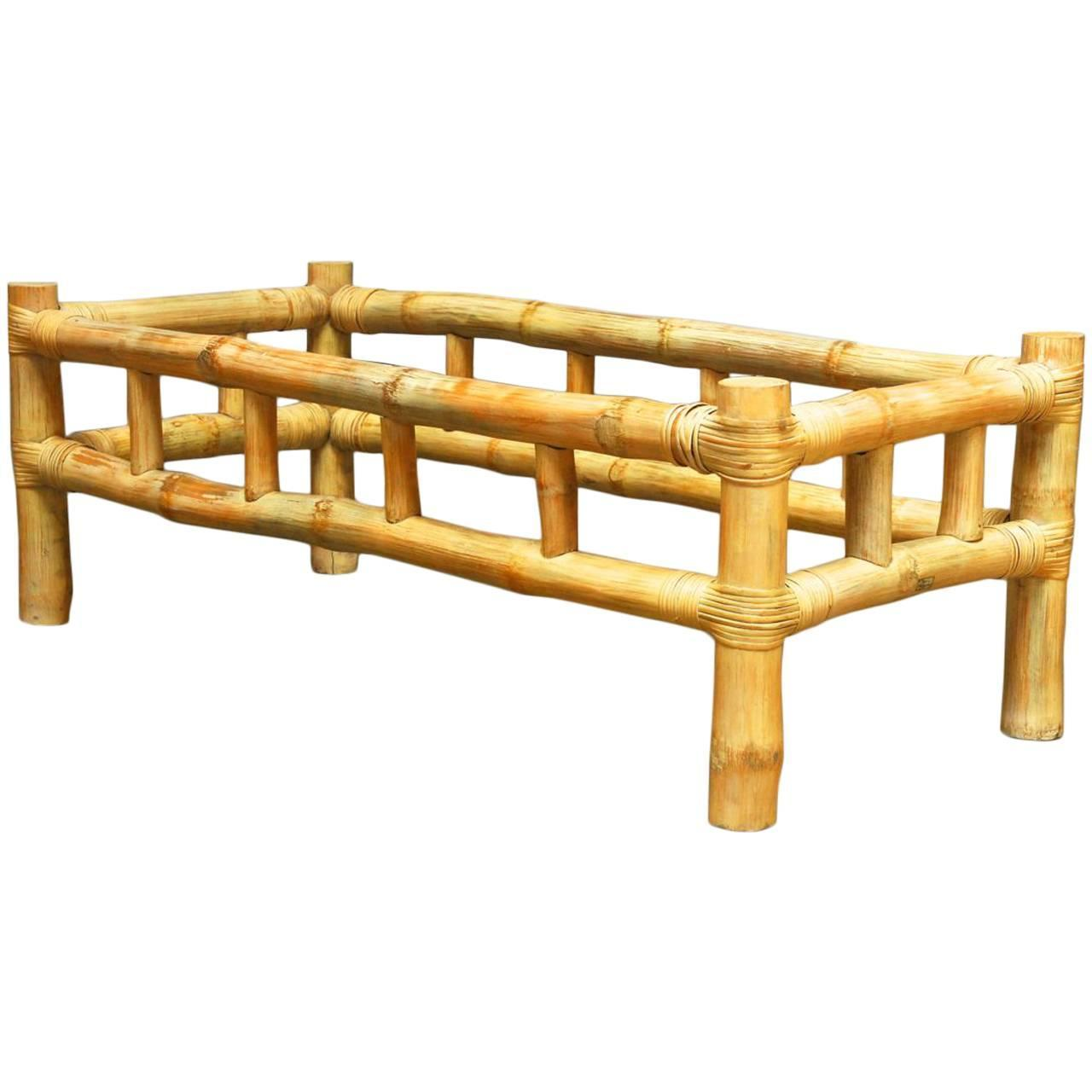 Ralph Lauren Attributed Bamboo Coffee Table