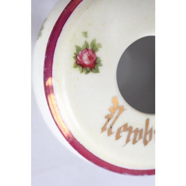 Antique Victorian Newburgh, NY Porcelain Hair Receiver - Image 10 of 11