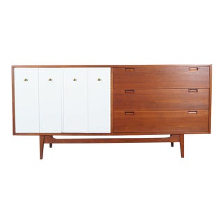 Vintage Walnut Credenza by American of Martinsville