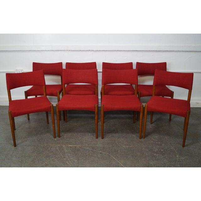 Vintage Danish Modern Teak Dining Chairs - Set of 8 - Image 7 of 11