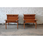 Image of Mid-Century Lane Step End Tables - A Pair