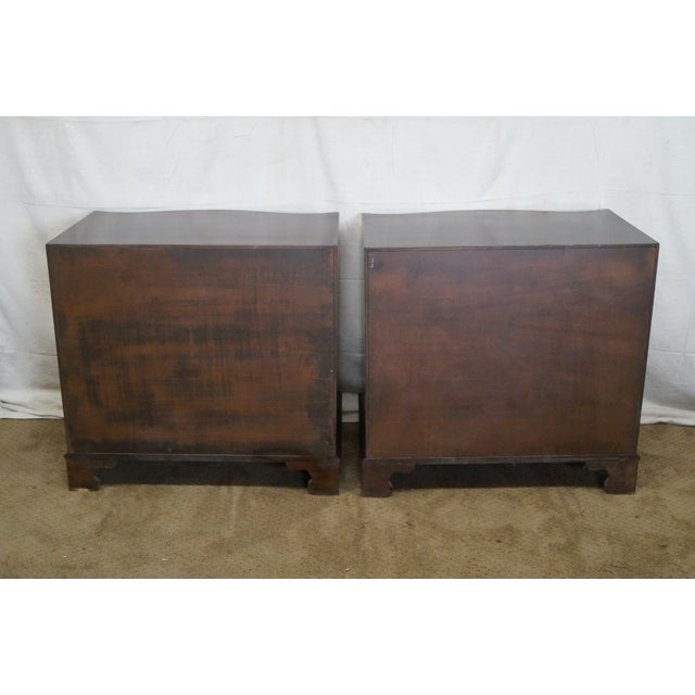 Flame Mahogany Serpentine Chippendale Style Chests of Drawers - A Pair - Image 4 of 10
