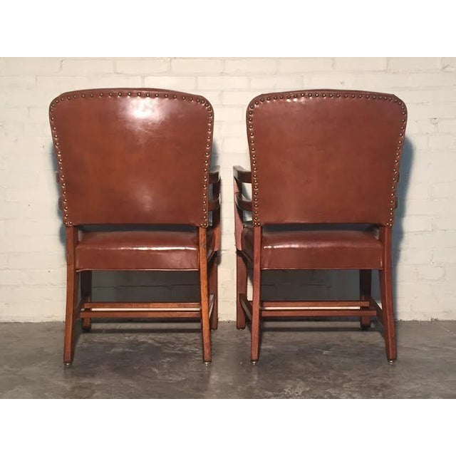 Mid-Century Office Chairs W/Nailhead Back - A Pair - Image 5 of 10