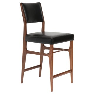 Maze Walnut Counter Stool