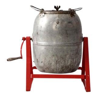Vintage Industrial Barrel on Stand