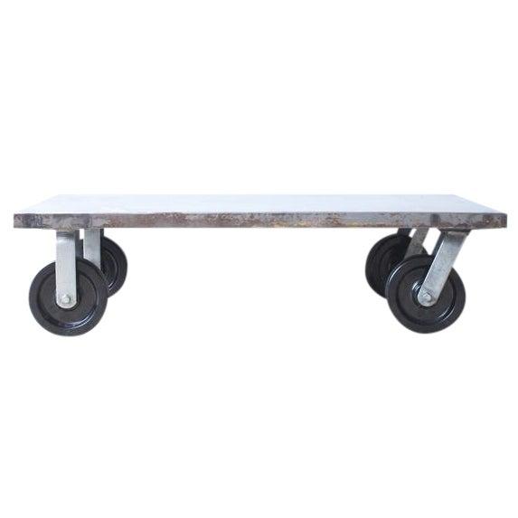 Industrial Metal Coffee Table - Image 1 of 7