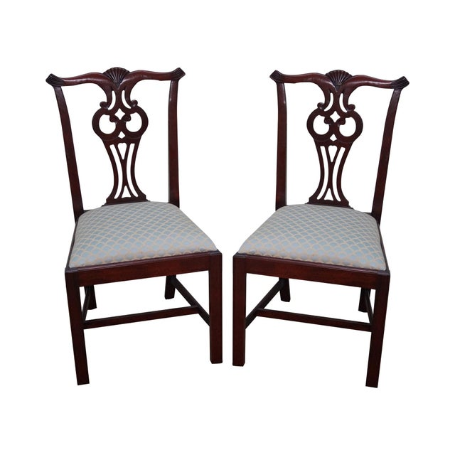 Hickory Chair Chippendale Style Side Dining Chairs - A ...