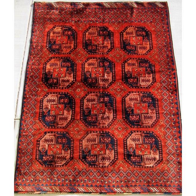 Image of Vintage Turkoman Tent Rug - 7x9