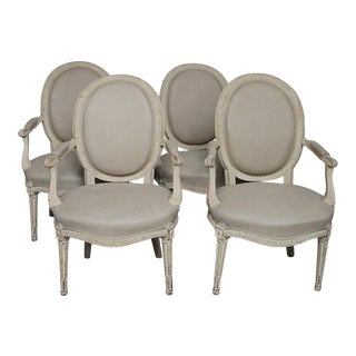 Set of Four Swedish Side Chairs (#42-60)
