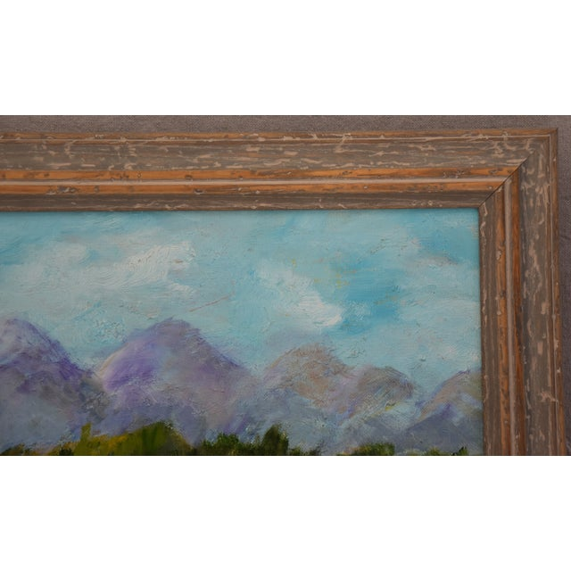Framed Mountain Landscape Oil Painting - Image 6 of 9