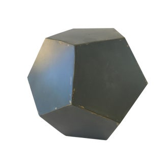 Mid-Century Octagon Metal Sculpture