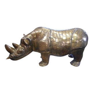 Bustamante Limited Edition Brass Rhinoceros