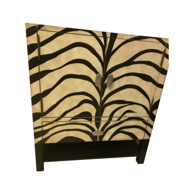 Zebra Print Side Tables - A Pair - Image 1 of 5