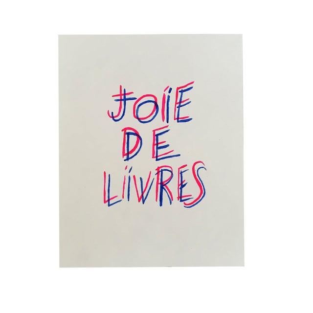 """Joie De Livres"" Modern Print - Image 1 of 5"