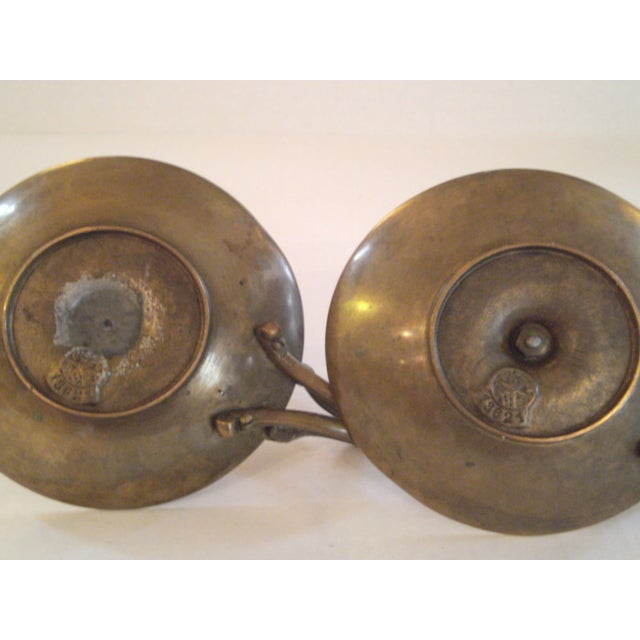 Bronze Chamber Candel Holders - A Pair - Image 9 of 11