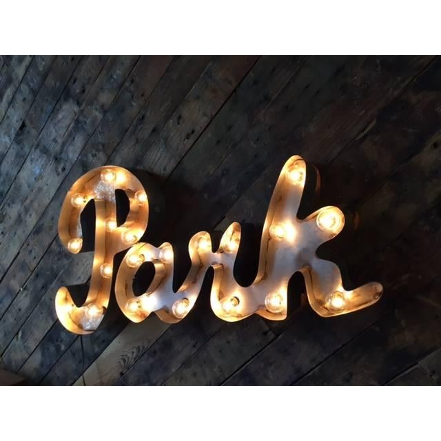 Image of Industrial Metal Custom Park Light Sign