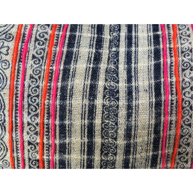 Hmong Tribal Batik Pillow - Image 4 of 7