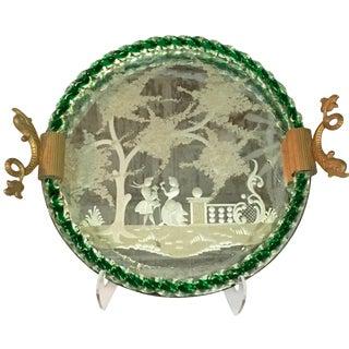 1940s Venetian Murano Glass & Gilt Tray