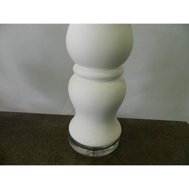 Double Ballister White Porcelain Table Lamp - Image 6 of 6