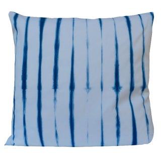 Shibori Indigo & White Stripe Pillow