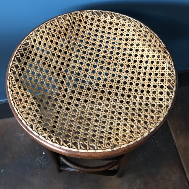 Bentwood Caned Counter Stool - Image 4 of 5