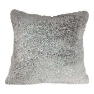 Kim Salmela Gray Faux Fur Pillow