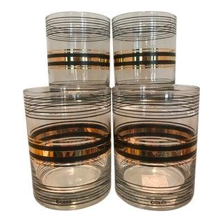 Culver Gold & Black Banded Rocks Glasses - Set of 4