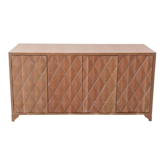 Lovely Cerused Oak Four Door Buffet Or Credenza Jamie
