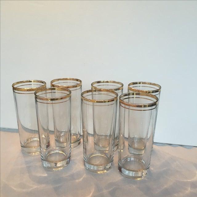 Gold Trimmed Glasses - Set of 7 - Image 4 of 10