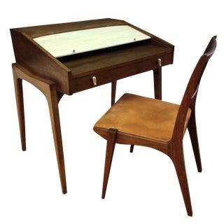 Drexel John Van Koert Roll Top Desk & Chair