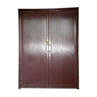 Reclaimed Aluminum Clad Art Deco Doors - A Pair